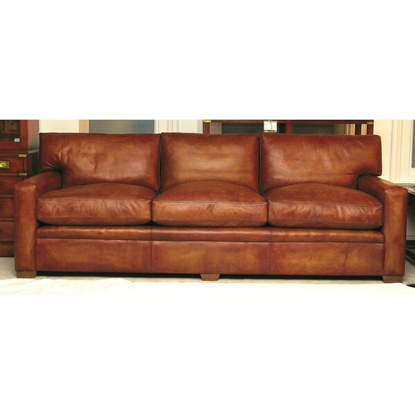 Berry Leather 4 Seater Sofa