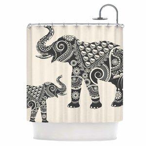 Indian Elephant-Boho Shower Curtain