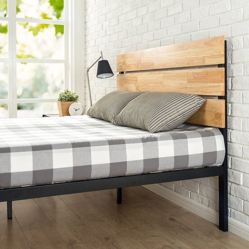 Zinus Sonoma Metal Wood Platform Bed Amp Reviews Wayfair