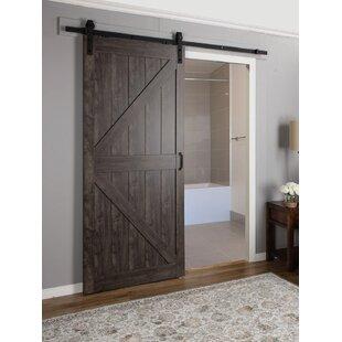barn doors you\u0027ll love wayfair capanelled manufactured wood finish continental barn door