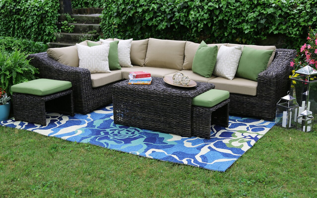 Williams 8 Piece Sunbrella Sectional Group with Cushions : sunbrella sectional - Sectionals, Sofas & Couches