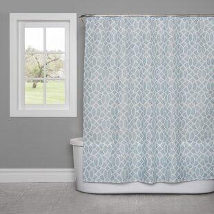 Watercolor Lattice Shower Curtain