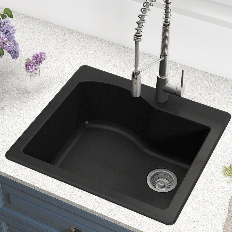 Quarza 25 X 22 Dual Mount Kitchen Sink