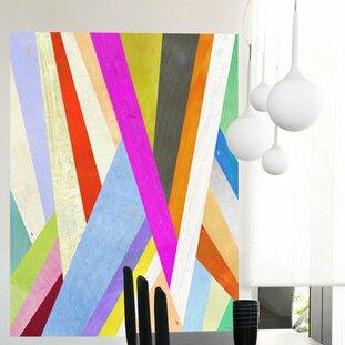 Diagonal Abstract Wall Mural Part 95