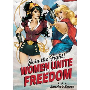 DC Comics Justice League 'Bombshell America's Heroes' Graphic Art Print