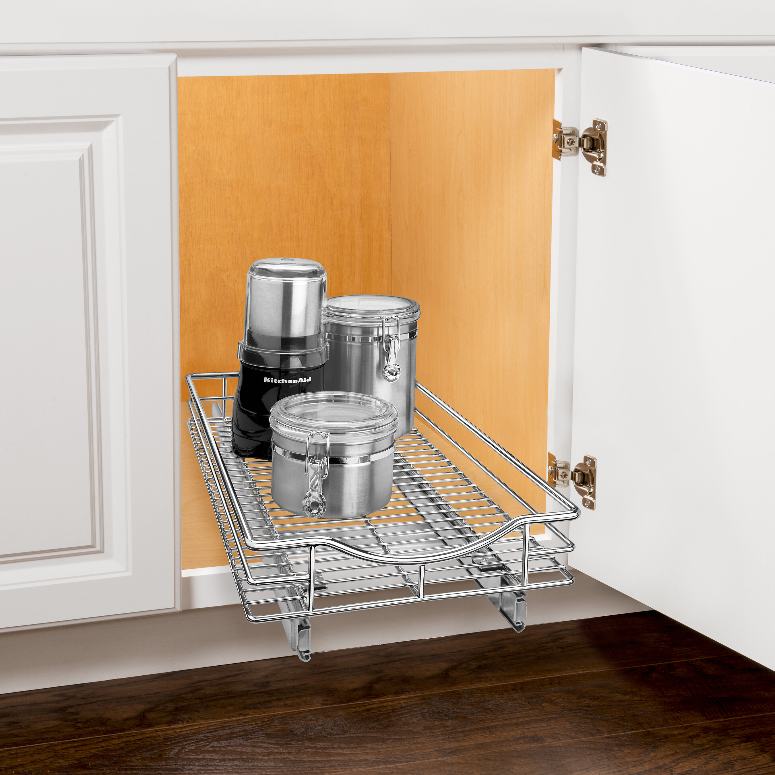 Lynk Roll Out Cabinet Organizer Pull Out Drawer Under Cabinet Sliding Shelf 11 Inch Wide X
