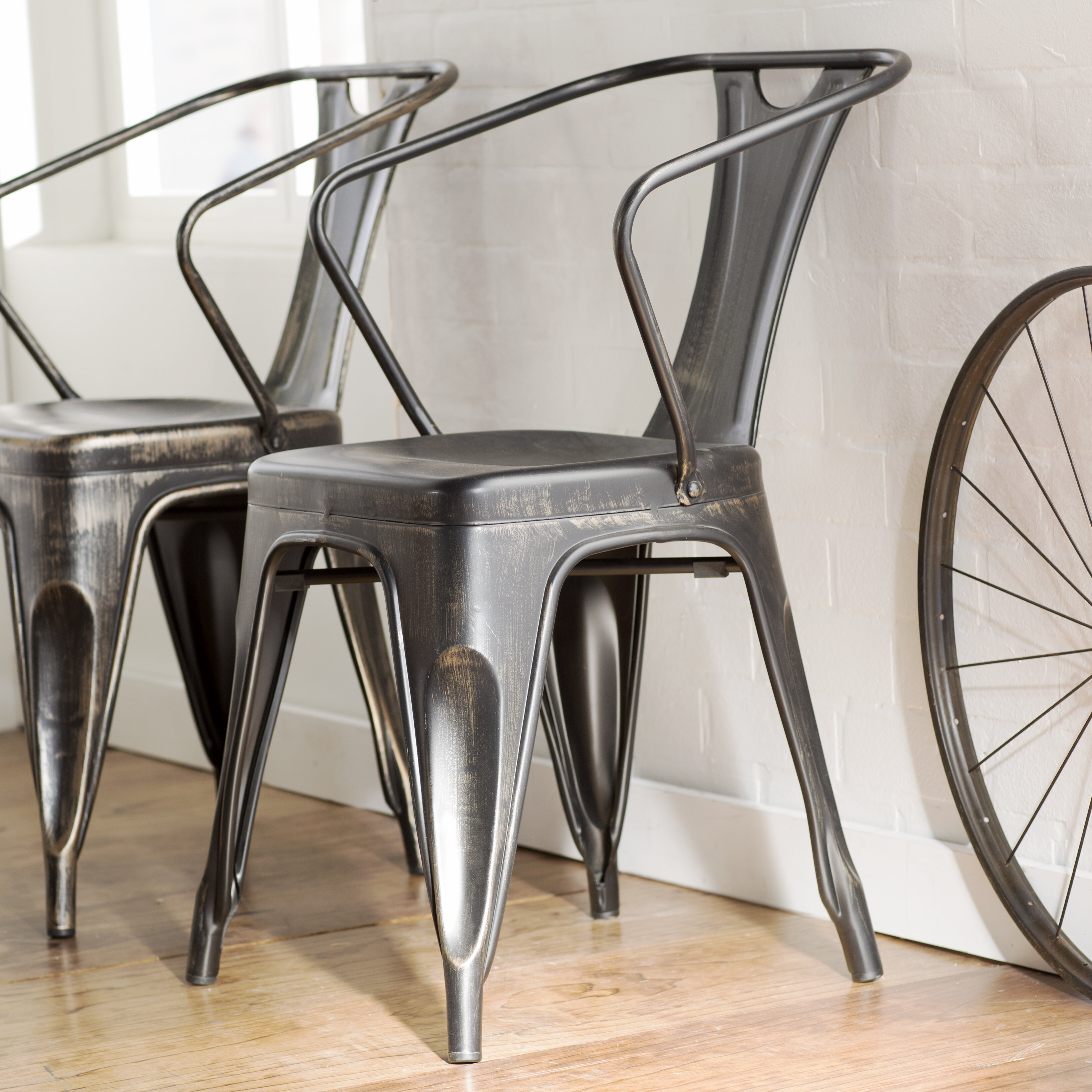 Mercury Row Industrial Arm Chairs U0026 Reviews | Wayfair