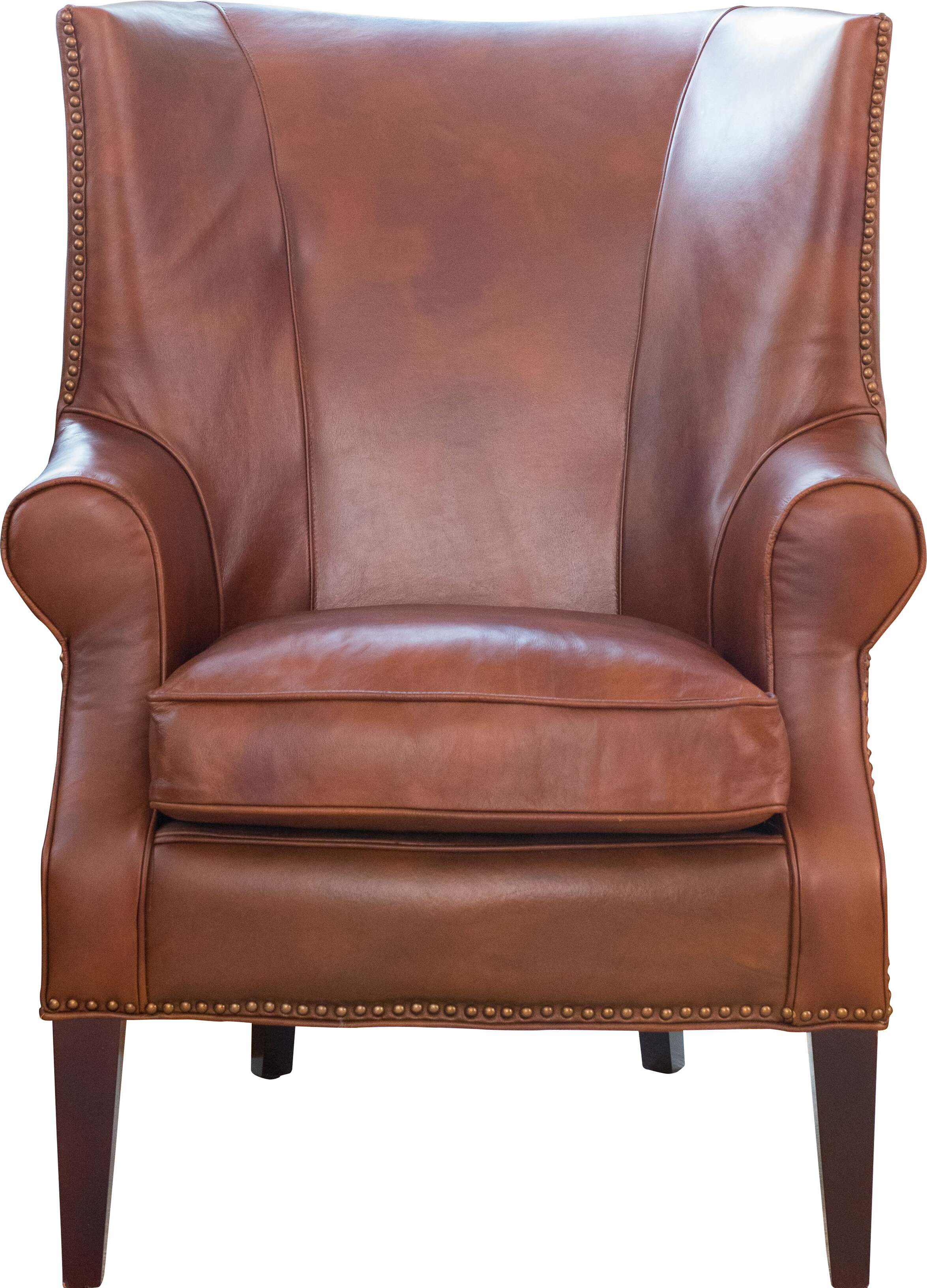 Ordinaire Elements Fine Home Furnishings Brayden Leather Wingback Chair | Wayfair