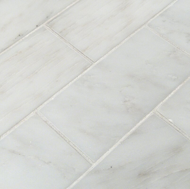 MSI 3 x 6 Marble Tile in Greecian White Reviews Wayfair
