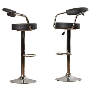 Beaupre Adjustable Height Swivel Bar Stool (Set of 2) by Wade Logan
