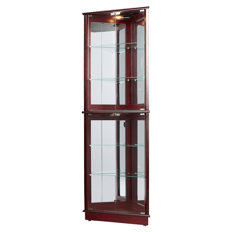 Charmant Randalstown Lighted Corner Curio Cabinet