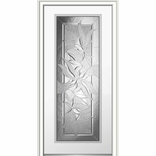 Severe Weather Smooth Primed Full Lite Out Swing Fiberglass Prehung Front Entry  Door