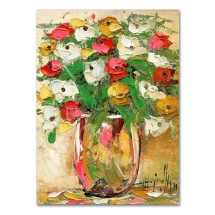 Vase With Flowers Painting   Wayfair Images Of Flower Vase Painting on painting lamp, painting angel, painting poppies, painting summer, painting self portrait, painting interior, painting butterfly, painting autumn, painting flower pot, painting sunflowers, painting candles, painting nocturne, painting garden, painting plants, painting bird, painting books, painting baskets of flowers, painting blue vase with flowers, painting tulips, painting dish,
