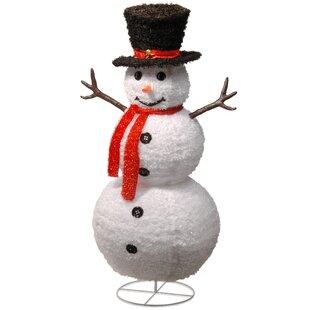 Light up snowman outdoor wayfair pop up snowman statue workwithnaturefo