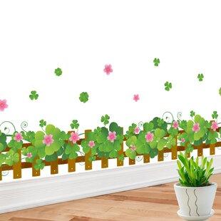 Flower Border Fence Wall Decal  sc 1 st  Wayfair & Picket Fence Wall Decal | Wayfair