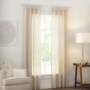 Wayfair Basics Solid Semi Sheer Tab Top Single Curtain Panel