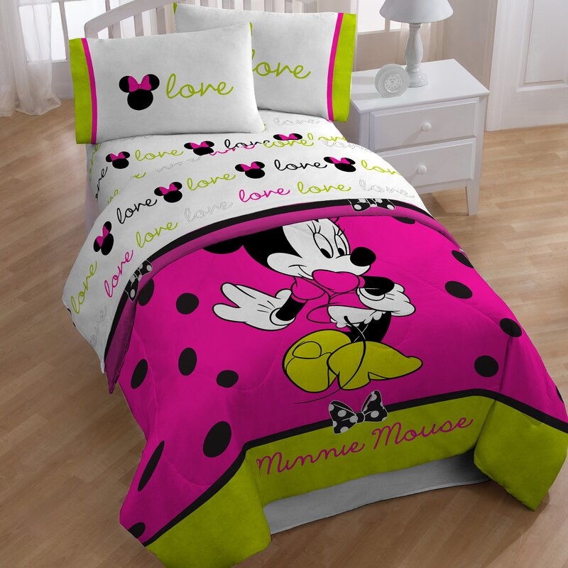 Disney Minnie 4 Piece Toddler Bedding Set Reviews Wayfair