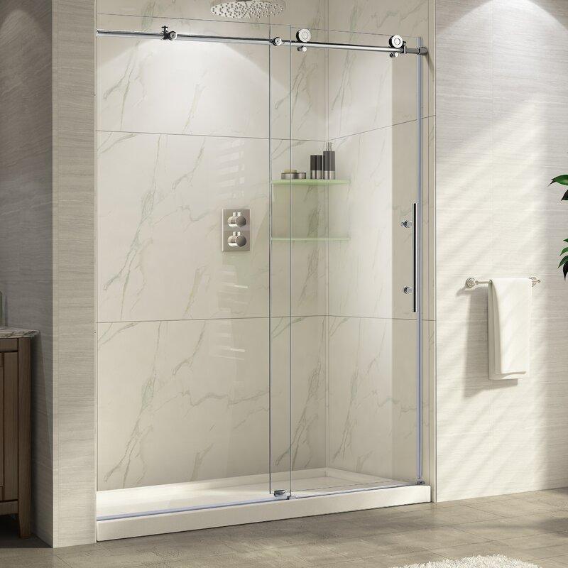 frameless single shower doors. Trident 48\u0027\u0027 X 76\u0027\u0027 Single Sliding Frameless Shower Door Doors