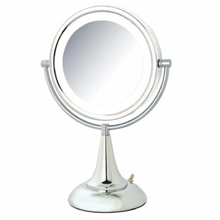 LED Lighted Table Top Mirror