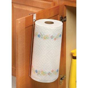 Over The Door Paper Towel Holder In Chrome