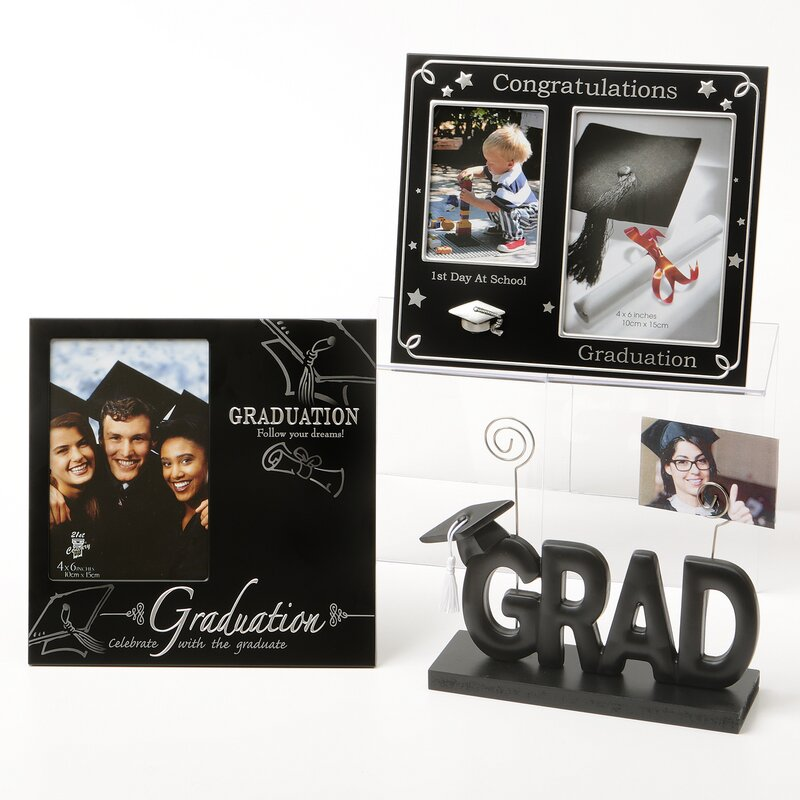 The Holiday Aisle Arignote 3 Piece Graduation Picture Frames Set ...