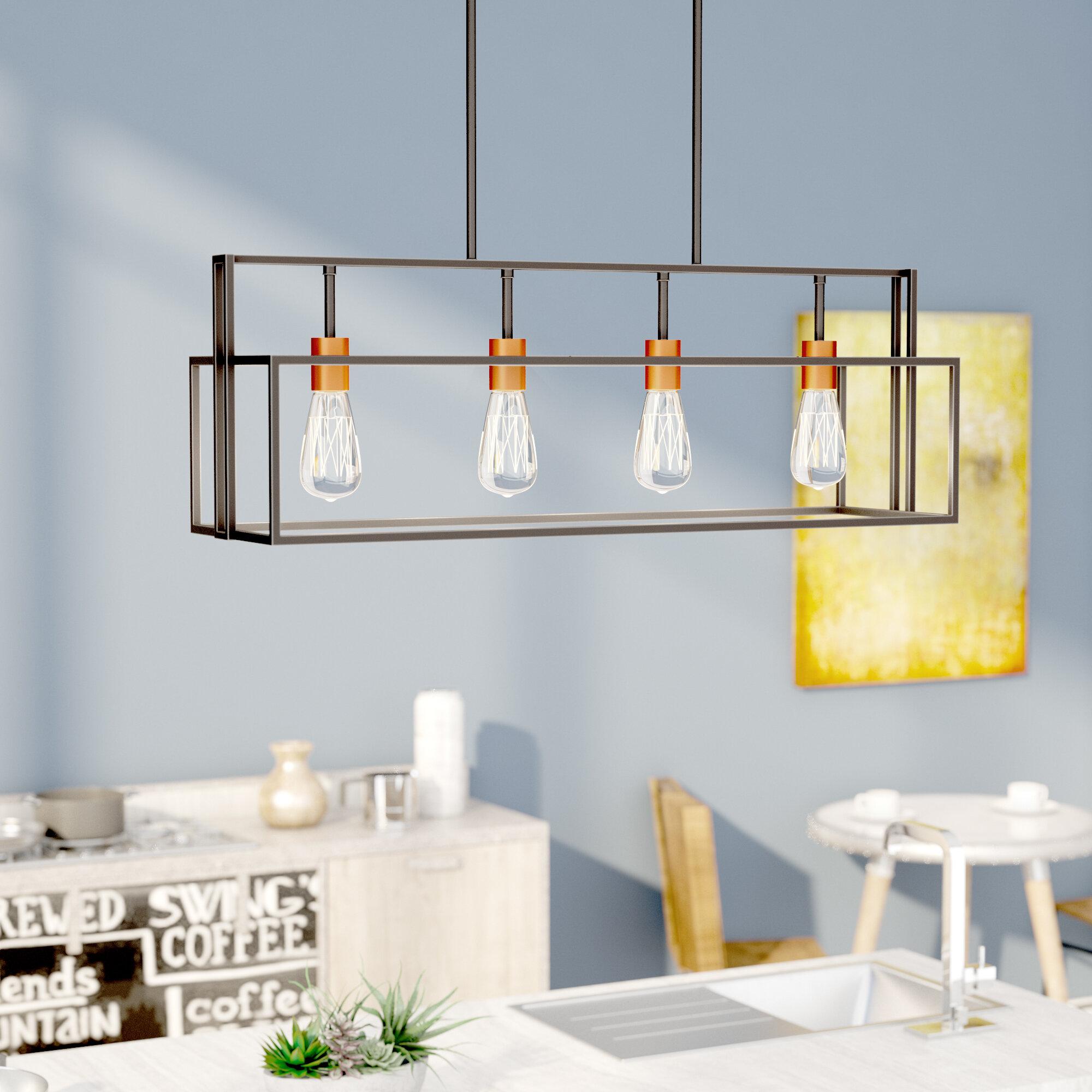 T Austin Design Jefferson 4 Light Kitchen Island Pendant Reviews Wayfair