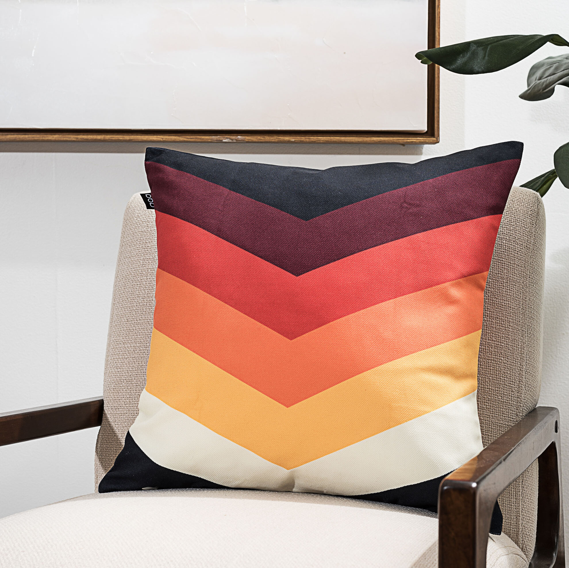 6b3895cb81 Colorful Chevron Throw Pillow