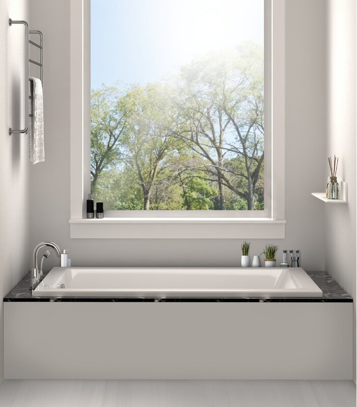 Fine fixtures drop in bathtub 32 x 48 soaking bathtub for Drop in tub dimensions