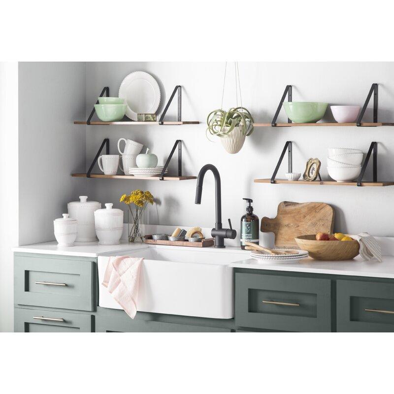 "Cottage Kitchen Sinks: KBC Charleston Reversible 30'' X 20"" Farmhouse Kitchen"
