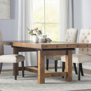 solid wood dining room sets. Etolin Extendable Dining Table Solid Wood Kitchen  Tables You ll Love Wayfair