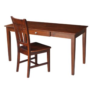Writing Desk And Chair Set In Espresso