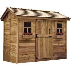 Garden Sheds 9 X 7 single door sheds you'll love | wayfair