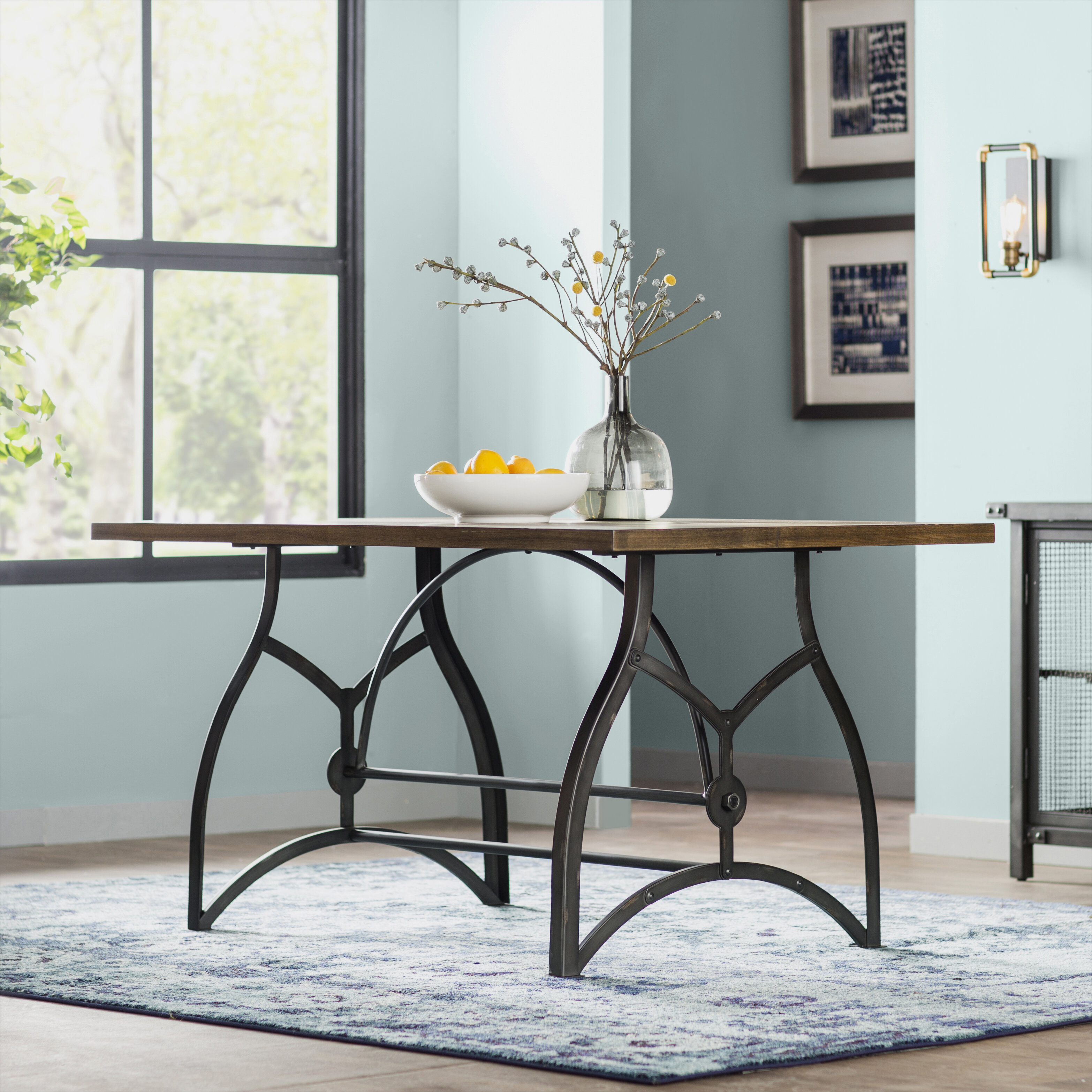 Trent Austin Design Amalda Wood and Metal Dining Table & Reviews ...
