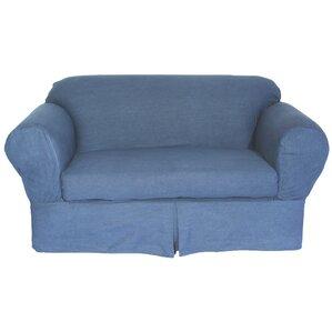 Classic Slipcovers Skirted Box Cushion Sofa Slipcover