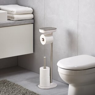 Bon EasyStore Butler Freestanding Toilet Paper Holder With Shelf And Drawer