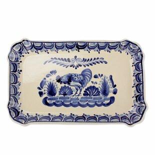 Mclane Rooster Majolica Ceramic Decorative Plate  sc 1 st  Wayfair & Rooster Plates | Wayfair