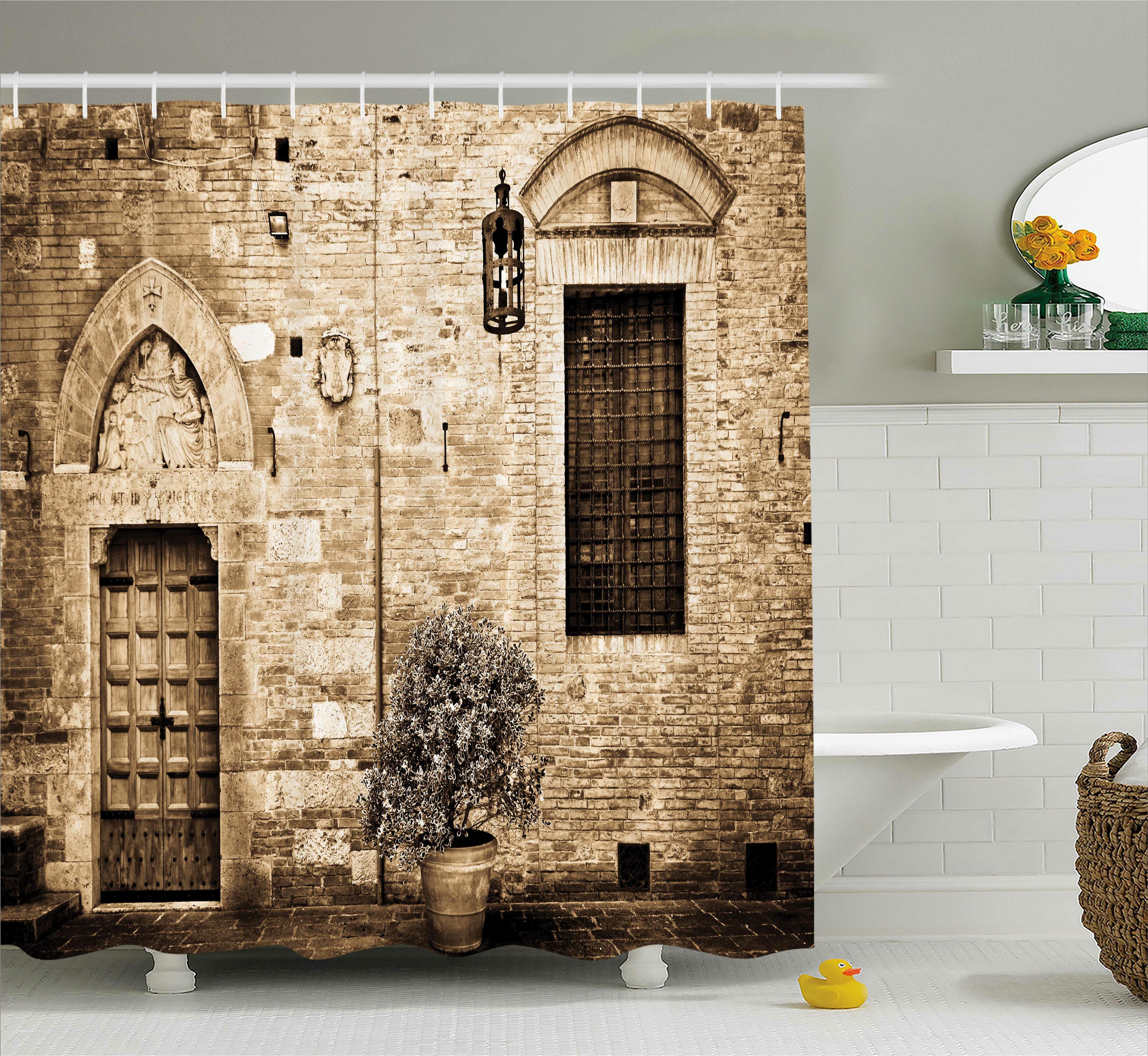 East Urban Home Tuscany Decor Shower Curtain | Wayfair