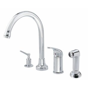 Danze? Melrose Single Handle Deck Mount Kitchen Faucet with Spray