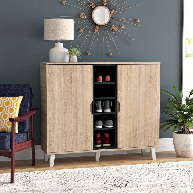 Corrigan Studio Jamar 38 Pair Shoe Storage Cabinet Reviews Wayfair