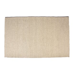 Look for Colton Hand-Woven Wool White Area Rug By Foundry Select