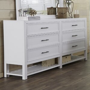Elosie 6 Drawer Double Dresser by Beachcrest Home