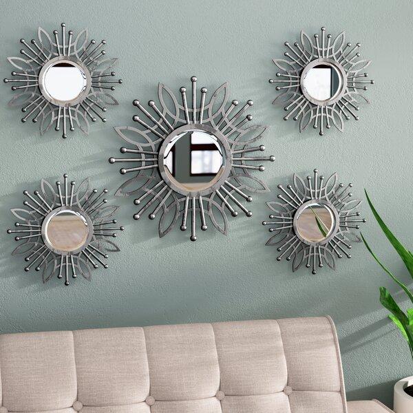 Zipcode Design 5 Piece Katy Burst Wall Mirror Set