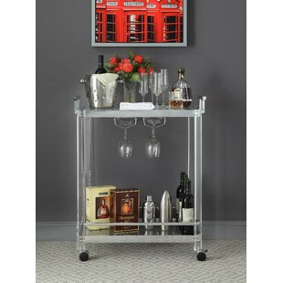 Erwin Metal and Acrylic Bar Cart
