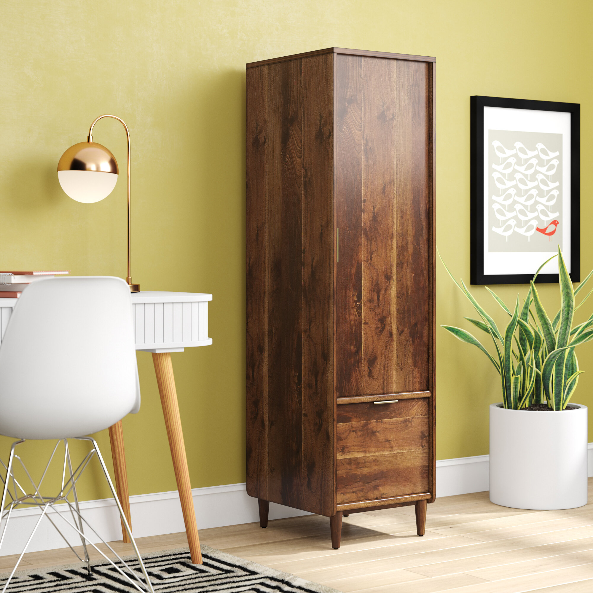George Oliver West Town 1-Drawer Vertical Filing Cabinet & Reviews ...