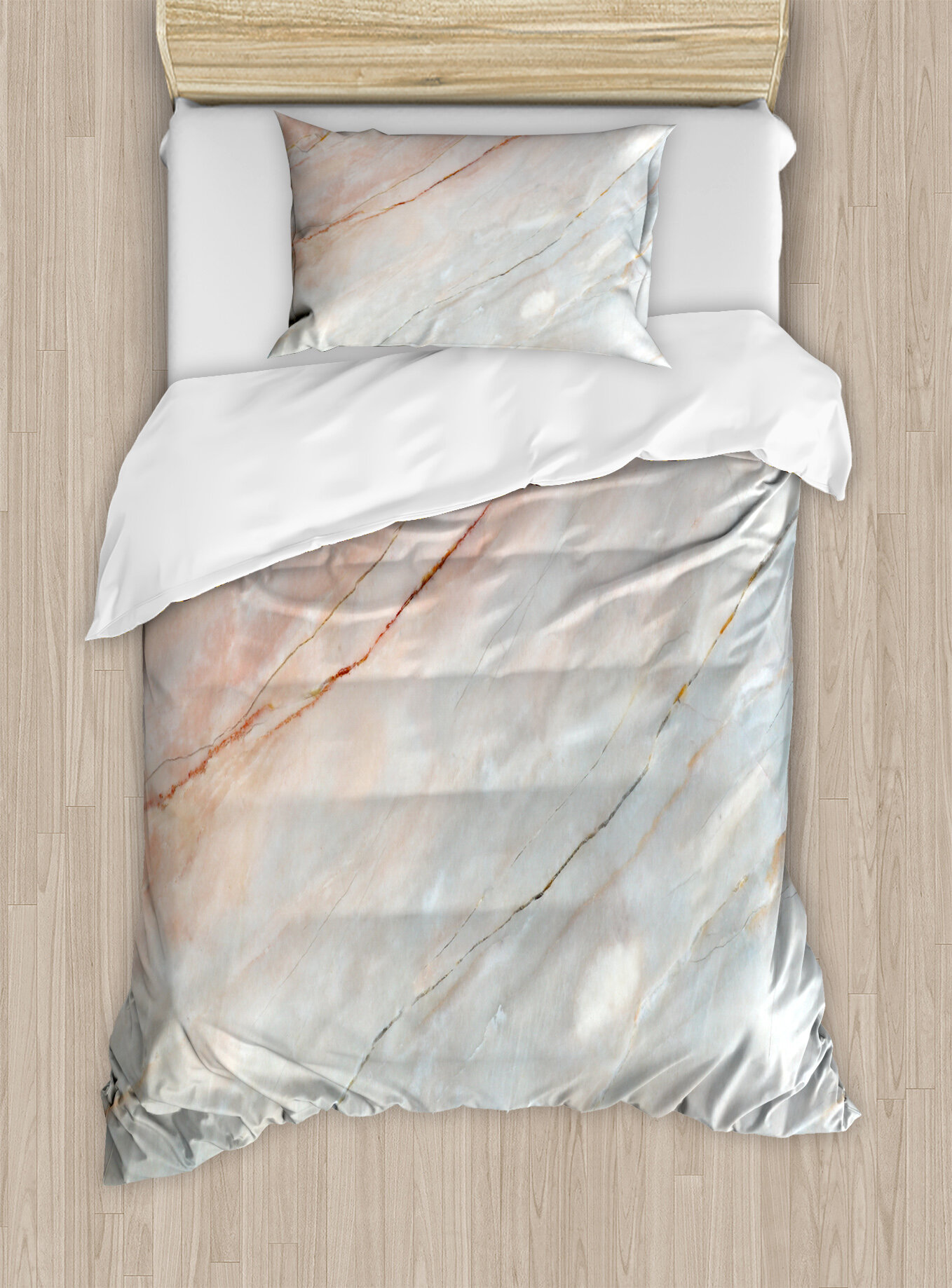 3041746bdf Ambesonne Marble Onyx Stone Textured Nature Featured Authentic Scratches  Art Illustration Duvet Cover Set | Wayfair