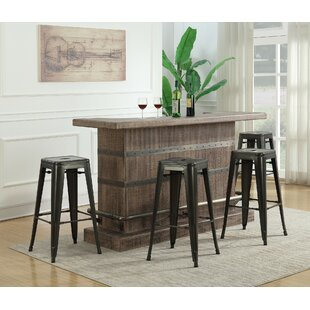 Dasilva 5 Piece Bar Set with Wine Storage