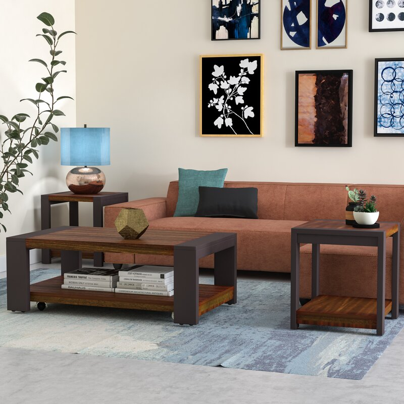 living room table set. Hayley 3 Piece Coffee Table Set Brayden Studio  Reviews Wayfair