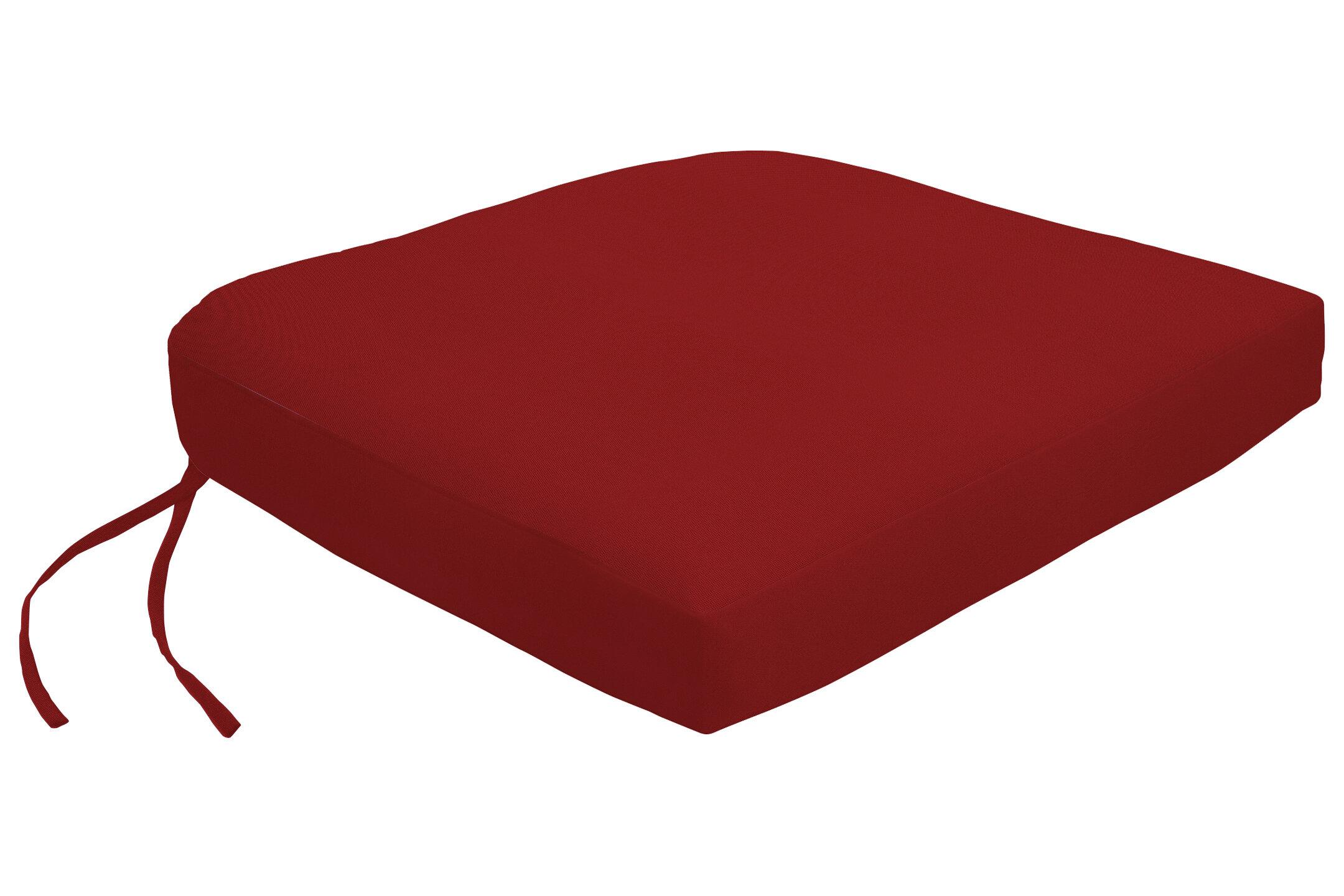 Wayfair Custom Outdoor Cushions Knife Edge Indoor/Outdoor Sunbrella Contour  Dining Chair Cushion With Ties U0026 Reviews | Wayfair