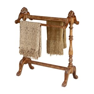 Baham Vintage Oak Quilt Rack by Astoria Grand