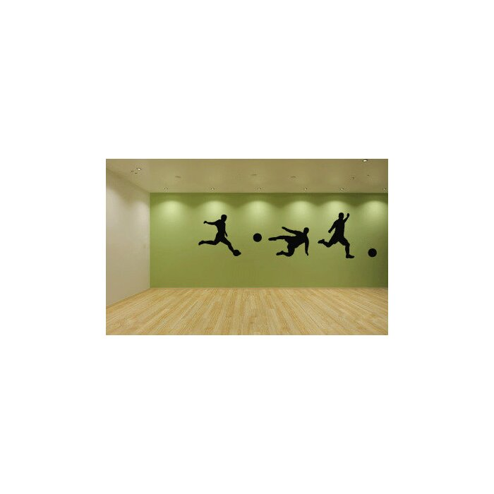 Zoomie Kids Marcos Soccer Players Wall Decal | Wayfair.ca